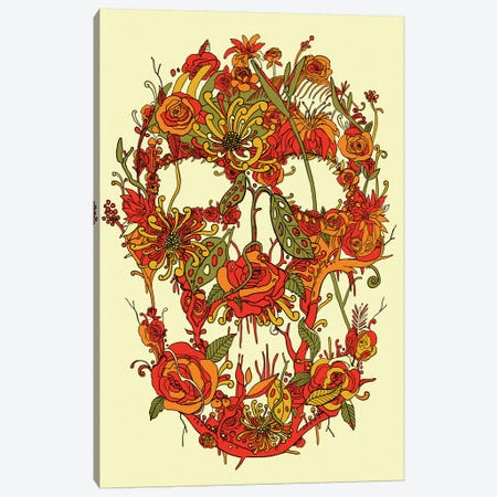 Floral Skull I Canvas Print #NID268} by Nicebleed Art Print