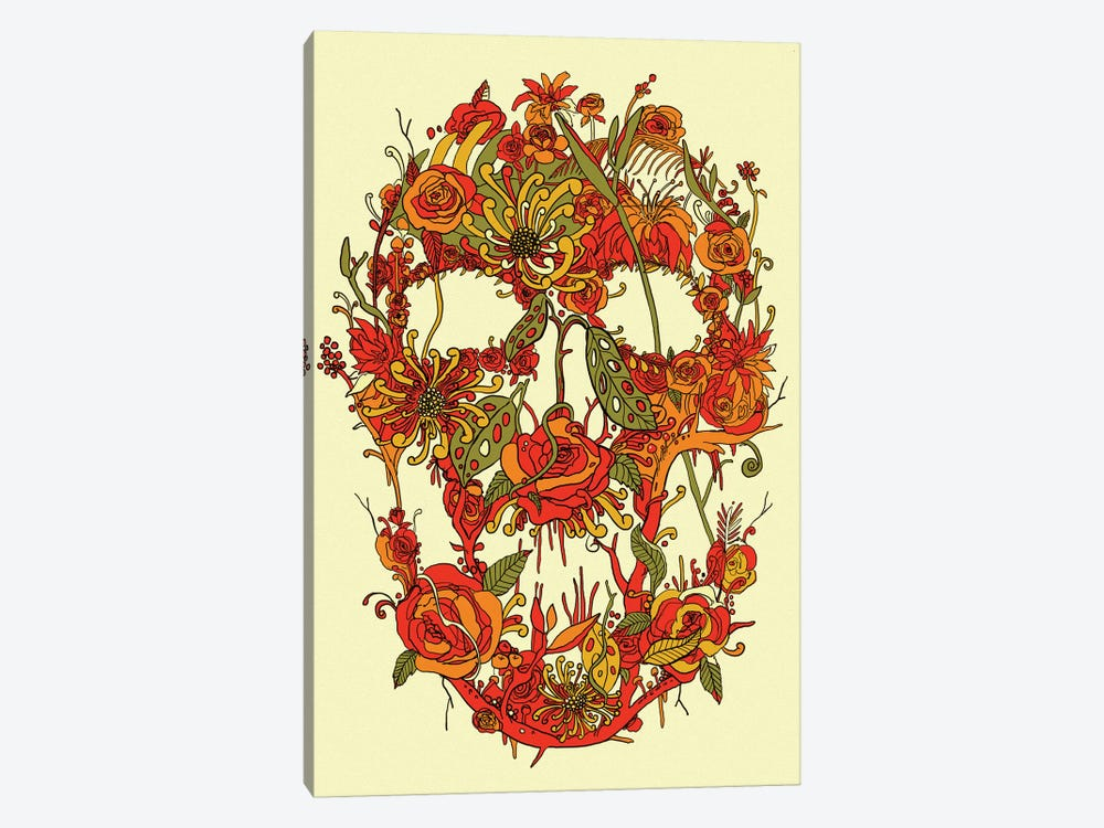 Floral Skull I 1-piece Canvas Art Print