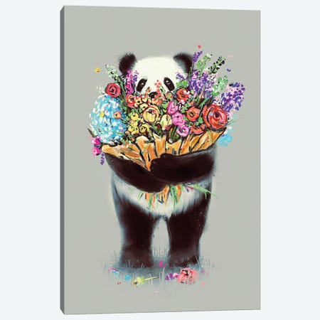 Flowers For You Big Canvas Print #NID270} by Nicebleed Canvas Artwork