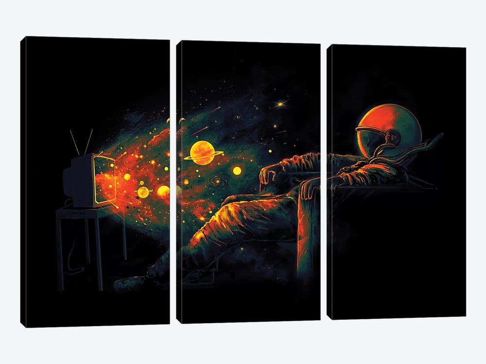 Cosmic Channel by Nicebleed 3-piece Canvas Artwork