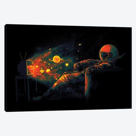 Cosmic Channel Canvas Print #NID287} by Nicebleed Canvas Wall Art