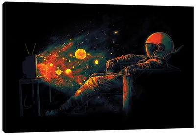 Cosmic Channel Canvas Art Print