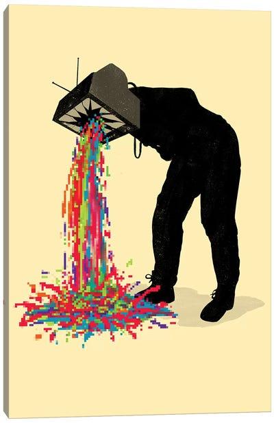 Pixel Vomit Canvas Art Print