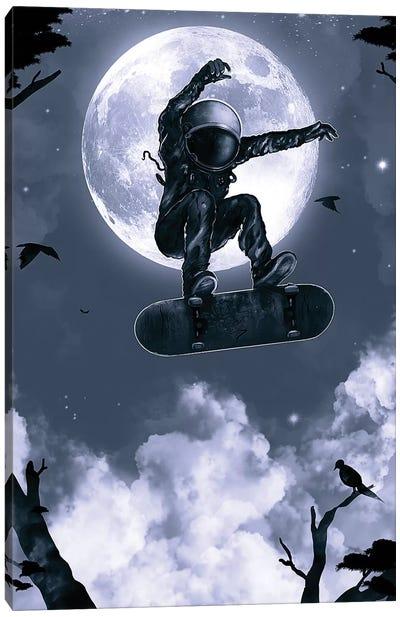 Space Skate Canvas Art Print
