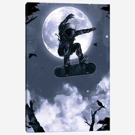 Space Skate Canvas Print #NID294} by Nicebleed Canvas Print