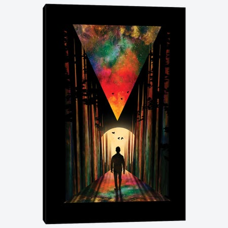 Chasing Sunset Canvas Print #NID298} by Nicebleed Canvas Artwork