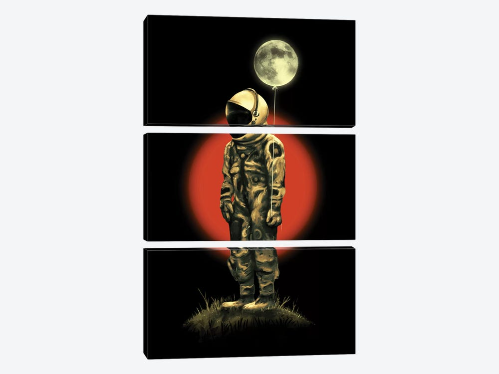 Fly Me To The Moon by Nicebleed 3-piece Canvas Wall Art