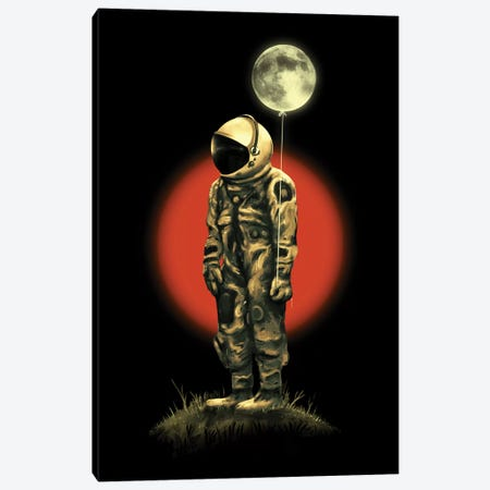 Fly Me To The Moon Canvas Print #NID300} by Nicebleed Canvas Artwork