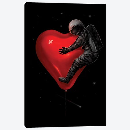 Space Love Canvas Print #NID305} by Nicebleed Art Print