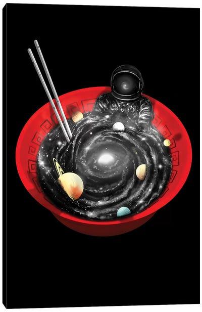 Space Ramen Bath Canvas Art Print