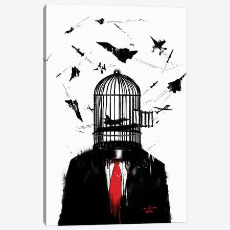 Free Birds Canvas Print #NID313} by Nicebleed Canvas Art Print
