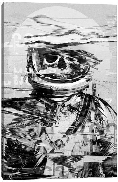 Astro Skull Canvas Art Print