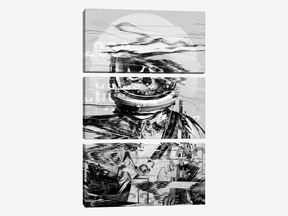 Astro Skull by Nicebleed 3-piece Canvas Print