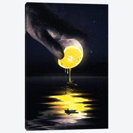 Le Moon Canvas Print #NID323} by Nicebleed Canvas Art