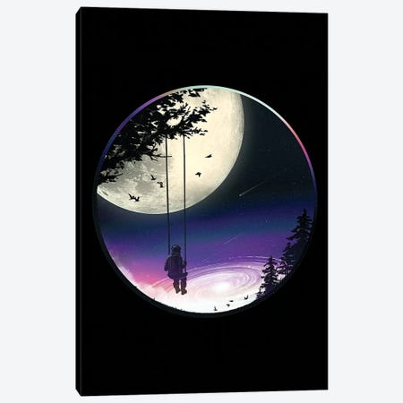 Moon Gazer Canvas Print #NID324} by Nicebleed Art Print