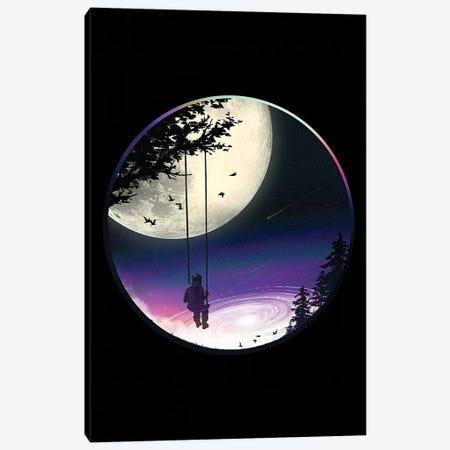 Moon Gazer Canvas Print #NID324} by Nicebleed Art Print