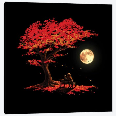 Autumn Moon Canvas Print #NID338} by Nicebleed Art Print