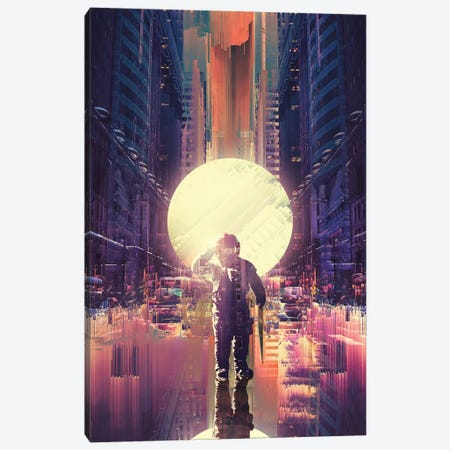 Lost In The City Canvas Print #NID342} by Nicebleed Canvas Art