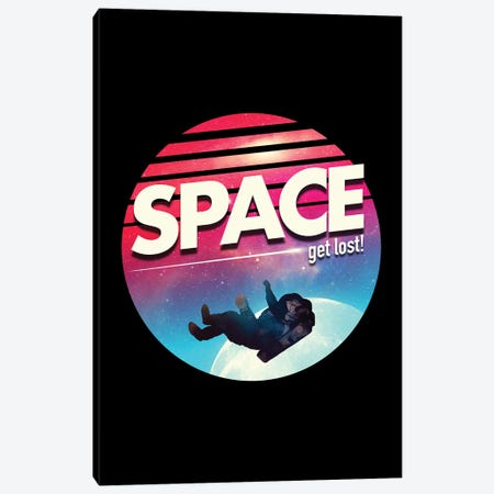 Get Lost In Space Canvas Print #NID343} by Nicebleed Canvas Art