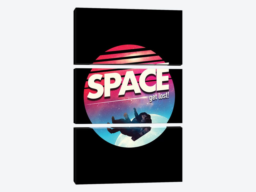 Get Lost In Space by Nicebleed 3-piece Canvas Print