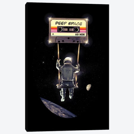 Deep Space Mix Tape Canvas Print #NID346} by Nicebleed Canvas Print