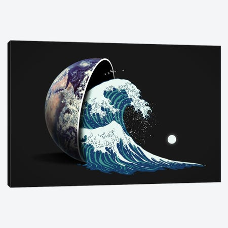 Earth Spill Canvas Print #NID354} by Nicebleed Canvas Wall Art