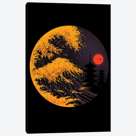 The Great Autumn Wave Canvas Print #NID356} by Nicebleed Canvas Artwork