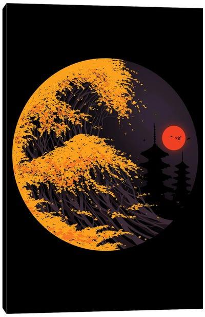 The Great Autumn Wave Canvas Art Print