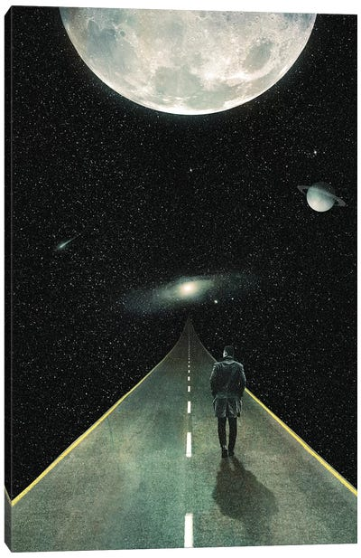 Road To Unknown Canvas Art Print