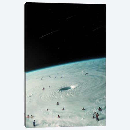 Hurricane Bath Canvas Print #NID373} by Nicebleed Canvas Print