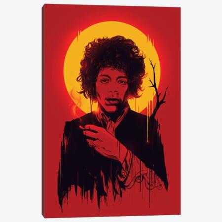 Jimi Hendrix Canvas Print #NID37} by Nicebleed Canvas Art
