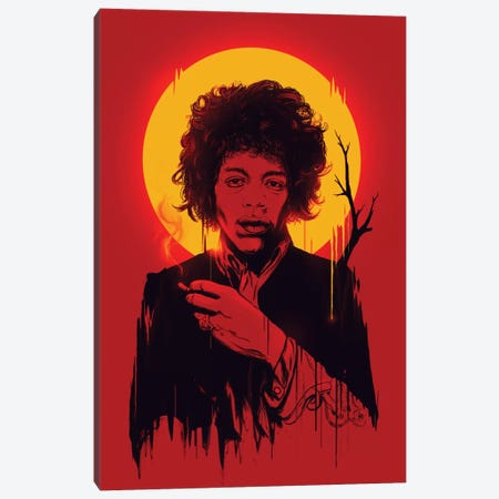 Jimi Hendrix Canvas Print #NID37} by Nicebleed Canvas Art
