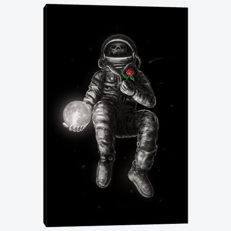 Moon And Back Canvas Print #NID383} by Nicebleed Canvas Wall Art
