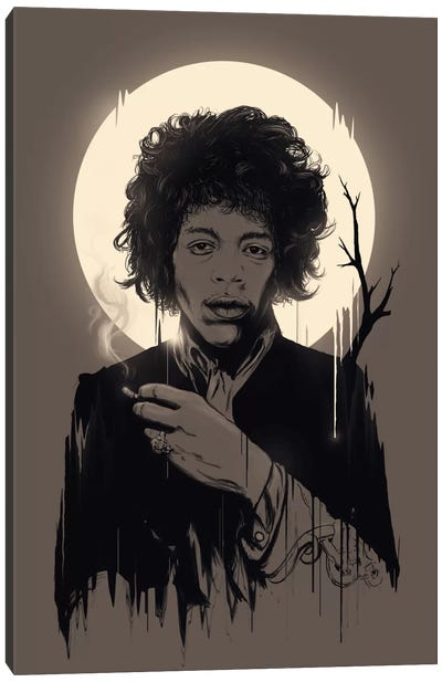 Jimi Hendrix II Canvas Art Print