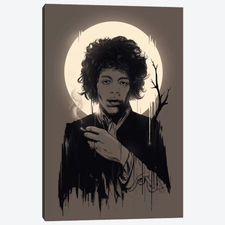 Jimi Hendrix II 3-Piece Canvas #NID38} by Nicebleed Canvas Print