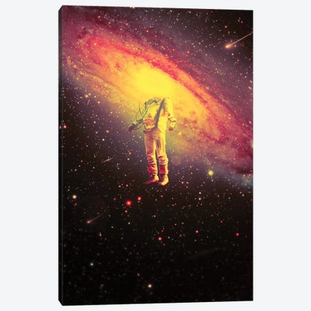 Mr. Galaxy III Canvas Print #NID402} by Nicebleed Art Print