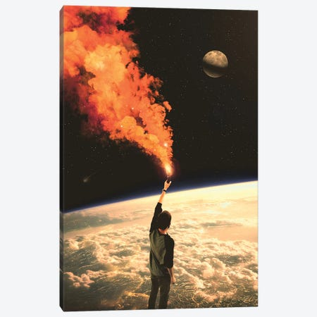 S.O.S. II Canvas Print #NID403} by Nicebleed Canvas Print
