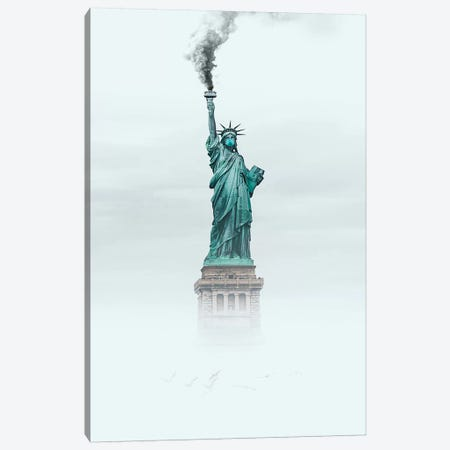 Liberty S.O.S. Canvas Print #NID407} by Nicebleed Canvas Wall Art