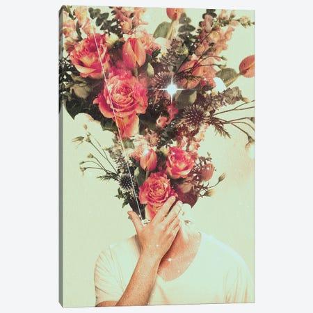 Floral Burst II Canvas Print #NID413} by Nicebleed Canvas Artwork
