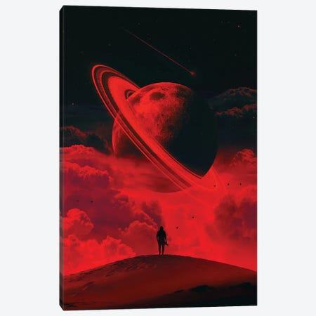 Alone With The Moon Canvas Print #NID420} by Nicebleed Art Print