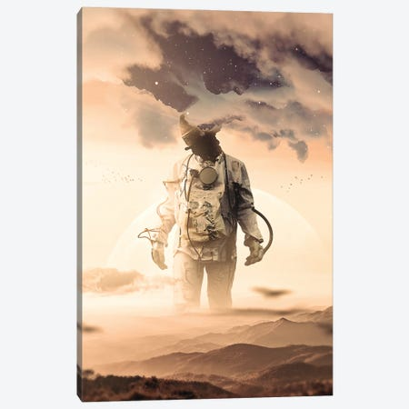 Feet On The Ground, Head In The Clouds Canvas Print #NID451} by Nicebleed Canvas Wall Art