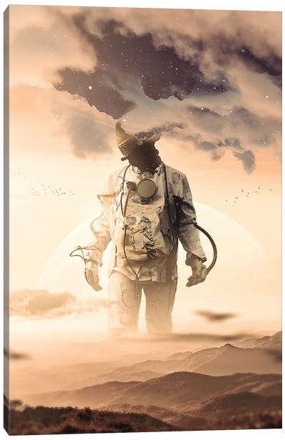 Feet On The Ground, Head In The Clouds Canvas Art Print