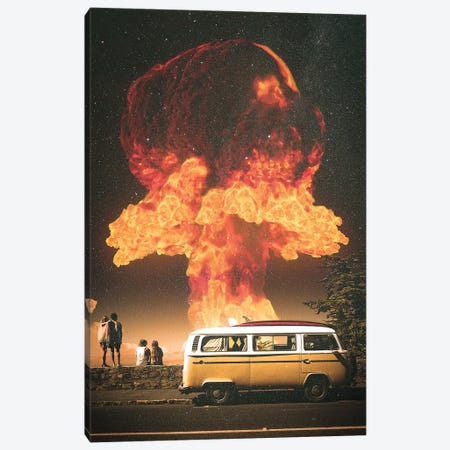 Stopover Canvas Print #NID454} by Nicebleed Canvas Art Print