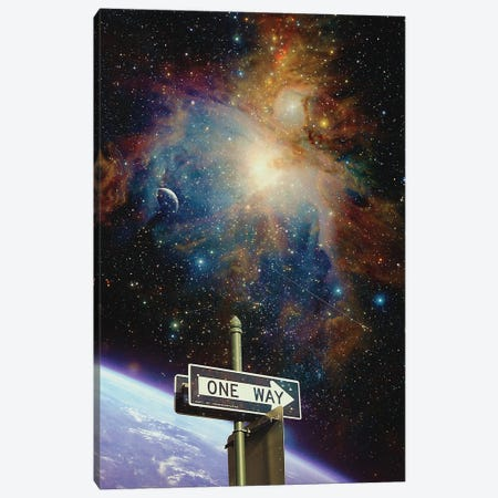 One Way Canvas Print #NID458} by Nicebleed Canvas Artwork