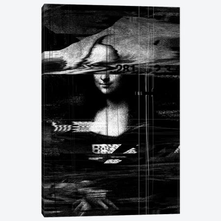 Mona Lisa Glitch Canvas Print #NID45} by Nicebleed Canvas Art Print