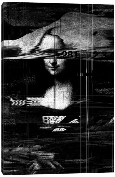 Mona Lisa Glitch Canvas Art Print