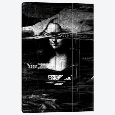 Mona Lisa Glitch Canvas Print #NID45} by Nicebleed Canvas Art Print