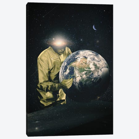 Earth Check II Canvas Print #NID460} by Nicebleed Canvas Art Print