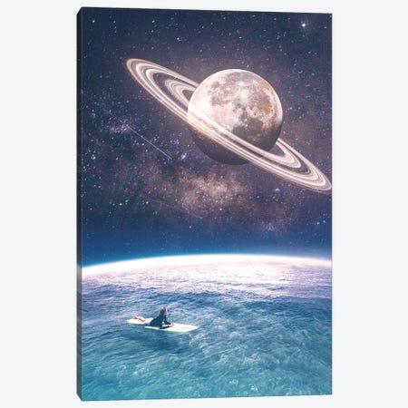Summer And Moon Rings Canvas Print #NID463} by Nicebleed Art Print