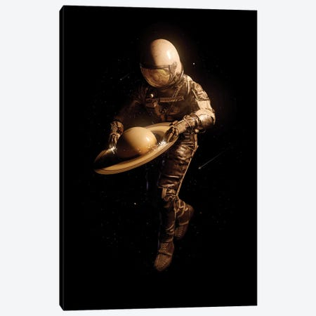 Saturntable II Canvas Print #NID481} by Nicebleed Canvas Art Print